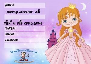 biglietti compleanno-principessa